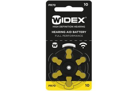 Baterie Widex 10 (6 ks)