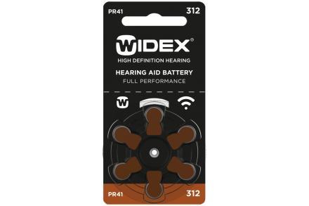 Baterie Widex 312 (6 ks)