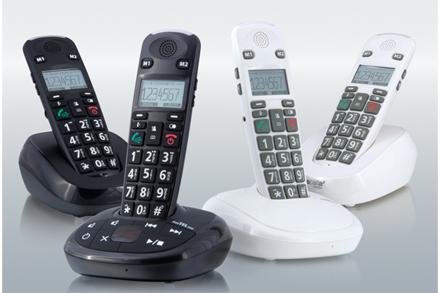 Bezdr. telefon FreeTEL eco se záznamníkem (černý)